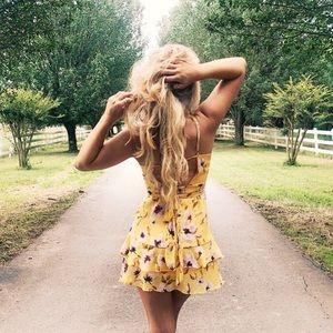 ❁ Floral Ruffle Mini Dress ❁